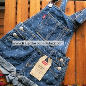 Levi's Boyfriend Shortall Denim Overalls ~ Girl 2T